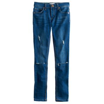 Girls 7-12 Freestyle Revolution Destructed Skinny Jeans