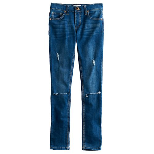 Girls 7-12 Freestyle Revolution Destructed Skinny Jeans