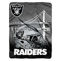 Oakland Raiders Silk-Touch Throw Blanket