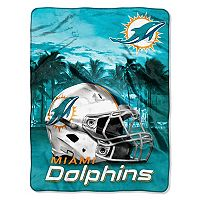 Miami Dolphins Silk-Touch Throw Blanket