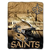 New Orleans Saints Silk-Touch Throw Blanket