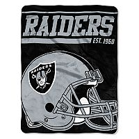 Oakland Raiders Micro Raschel Throw Blanket