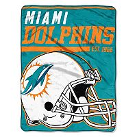 Miami Dolphins Micro Raschel Throw Blanket