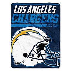Los Angeles Chargers Micro Raschel Throw Blanket