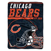 Chicago Bears Micro Raschel Throw Blanket