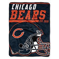 Chicago Bears Micro Raschel Throw Blanket