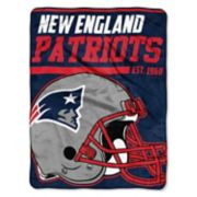 New England Patriots Micro Raschel Throw Blanket