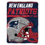 New EnglandPatriots Micro Raschel Throw Blanket