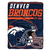 Denver Broncos Micro Raschel Throw Blanket