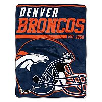 Denver Broncos Micro Raschel Throw Blanket