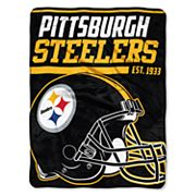 Pittsburgh Steelers Micro Raschel Throw Blanket