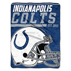 Indianapolis Colts Micro Raschel Throw Blanket