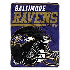 Baltimore Ravens Micro Raschel Throw Blanket