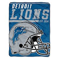 Detroit Lions Micro Raschel Throw Blanket