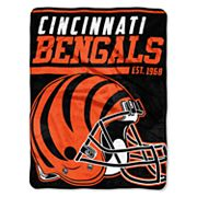 Cincinnati Bengals Micro Raschel Throw Blanket