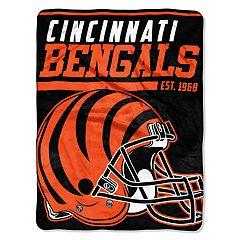 Cincinnati Bengals Micro Raschel Throw Blanket