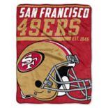 San Francisco 49ers Micro Raschel Throw Blanket