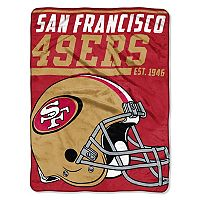 San Francisco 49ers Micro Raschel Throw Blanket