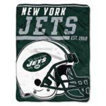 New York Jets Micro Raschel Throw Blanket