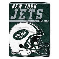New York Jets Micro Raschel Throw Blanket