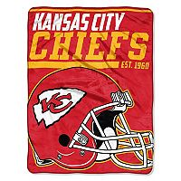 Kansas City Chiefs Micro Raschel Throw Blanket