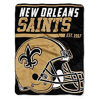 New Orleans Saints Micro Raschel Throw Blanket