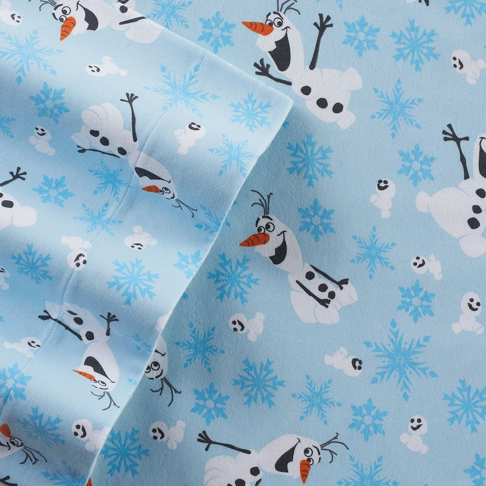 Disneys Frozen Olaf Flannel Sheet Set By Jumping BeansR
