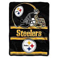 Pittsburgh Steelers Super Plush Reversible Throw Blanket
