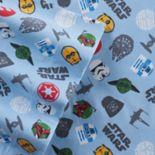 Star Wars Scatter Print Flannel Sheet Set