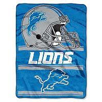 Detroit Lions Super Plush Reversible Throw Blanket