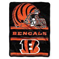 Cincinnati Bengals Super Plush Reversible Throw Blanket