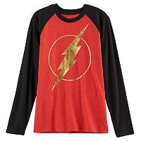 Boys 8-20 DC Comics The Flash Raglan Tee