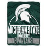 Michigan State Spartans Silk-Touch Throw Blanket