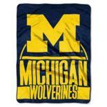 Michigan Wolverines Silk-Touch Throw Blanket