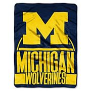 Michigan Wolverines Silk-Touch Throw Blanket