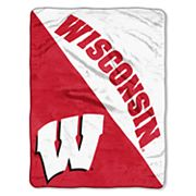 Wisconsin Badgers Micro Raschel Throw Blanket