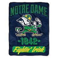 Notre Dame Fighting Irish Micro Raschel Throw Blanket