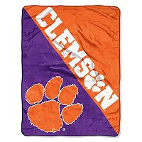 Clemson Tigers Micro Raschel Throw Blanket