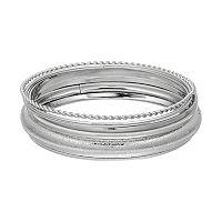 Plus Size Textured Bangle Bracelet Set