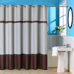 Portsmouth Home Claridge Embroidered Shower Curtain