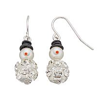 Snowman Fireball Drop Earrings