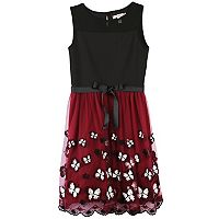 Girls 7-16 Speechless Embroidered Butterfly Hem Dress