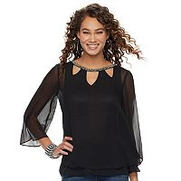 Women's Jennifer Lopez Embellished Cutout Top
