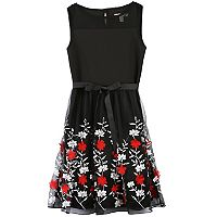 Girls 7-16 Speechless Embroidered Floral Tulle Dress