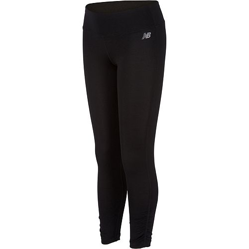 Girls 7-16 New Balance Sueded Jersey Performance Tights