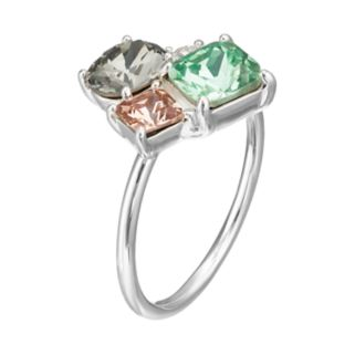 Brilliance Cluster Ring with Swarovski Crystals