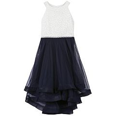 Girls 7-16 Speechless Jeweled Bodice High-Low Dress