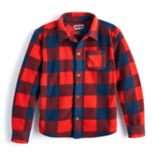 Boys 4-10 Jumping Beans® Checked Plaid Microfleece Shirt