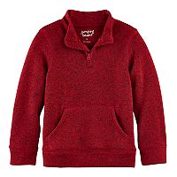 Boys 4-10 Jumping Beans® 1/4 Zip Fleece Sweater