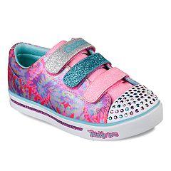 Skechers Twinkle Toes Shuffles Sparkle Glitz Pop Party Girls' Light Up Sneakers